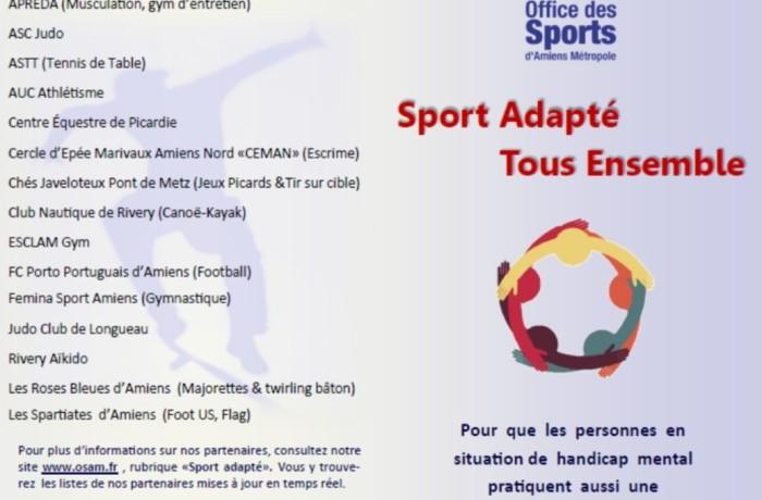 "Clubs partenaires ""Sport Handicap"""