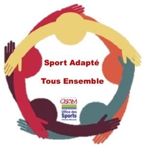Logo Sport Adapté Tous Ensemble OSAM VD
